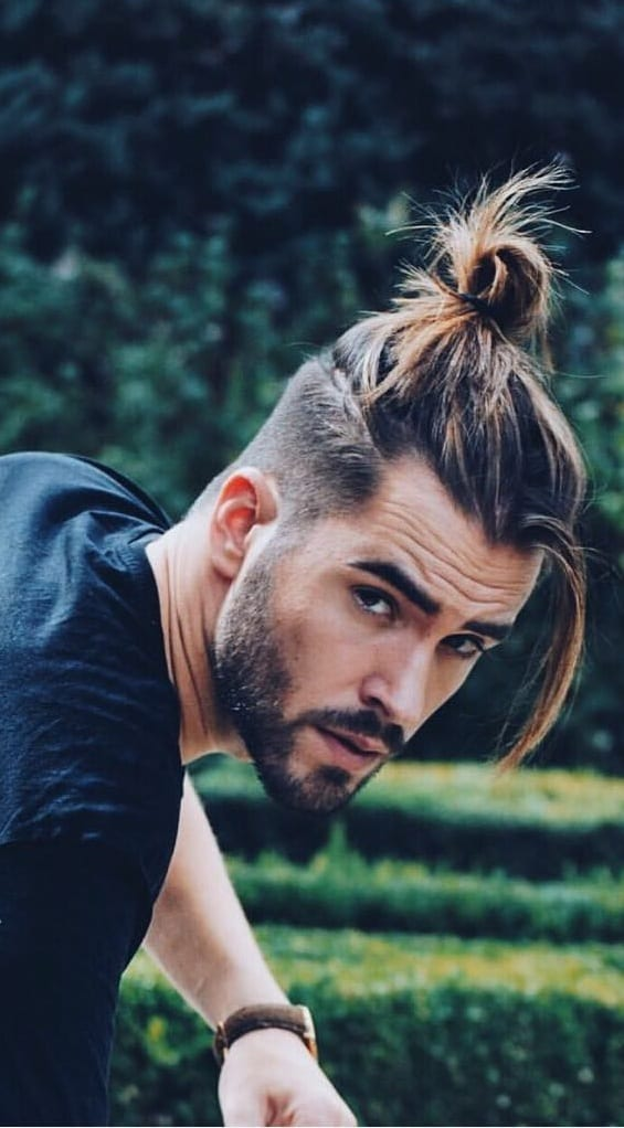 Amazing Ponytail Hairstyle For Men!