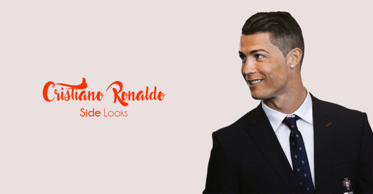 Cristiano Ronaldo Side Hairstyle Looks