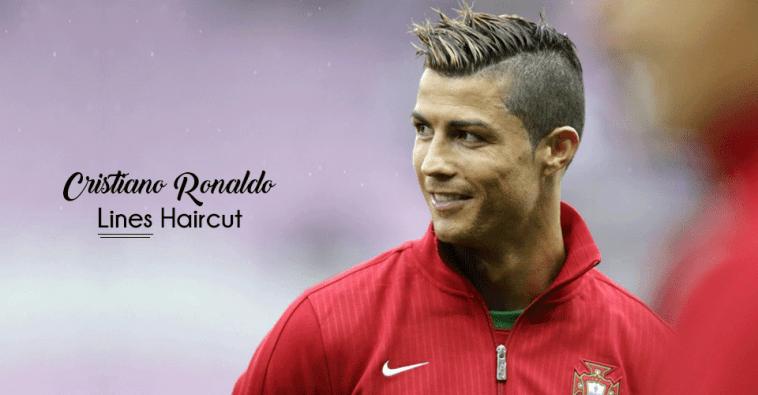Cristiano Ronaldo lines hairstyle