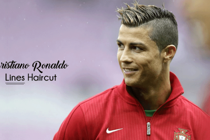 Cristiano Ronaldo lines hairstyle