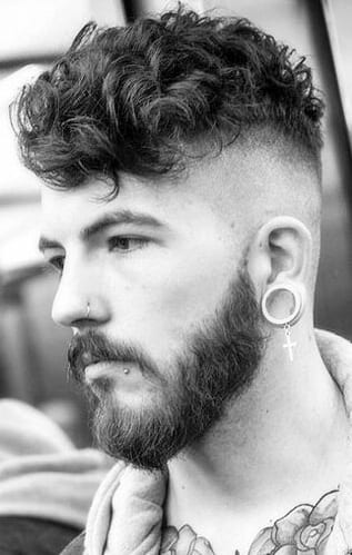 Curls And Fade Haircut Combinations For Men.