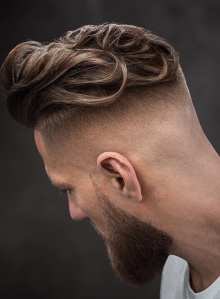 Curls And Fade Haircut For Men