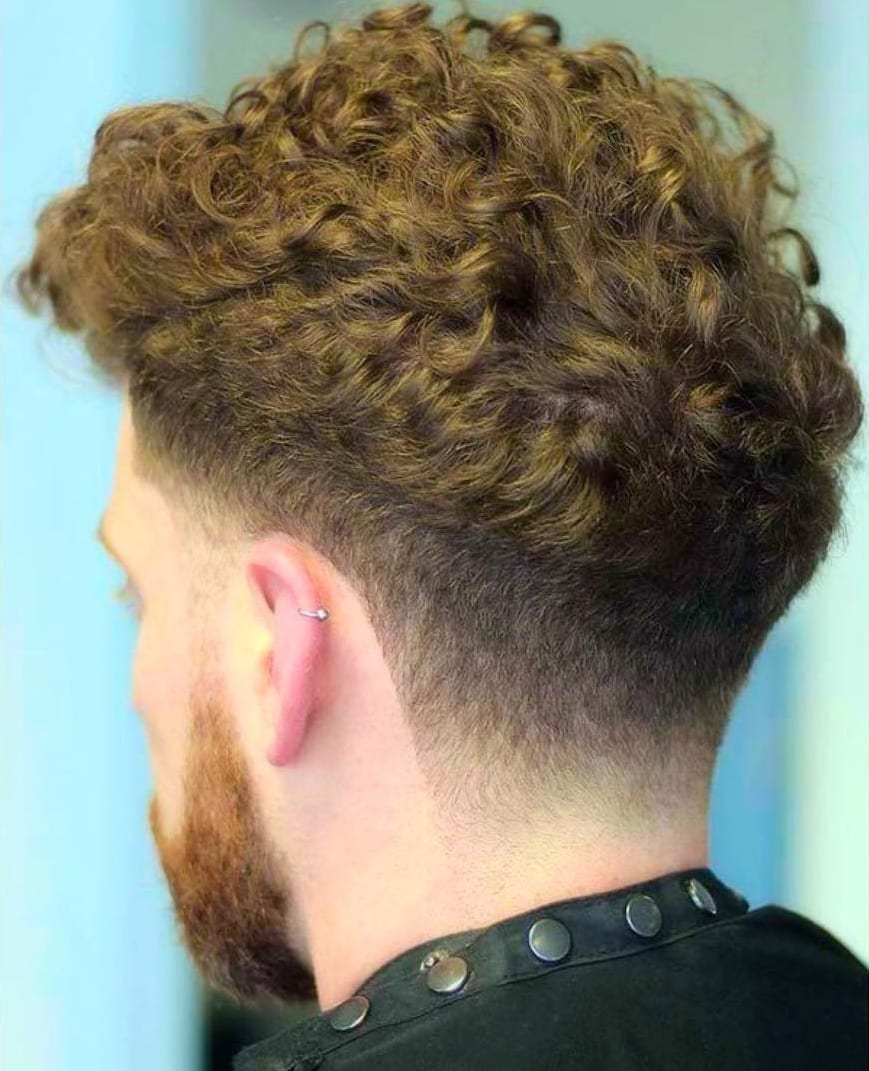 Curls And Fade Haircut