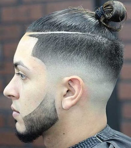 Fade Combinations Fade Haircut With Ponytail