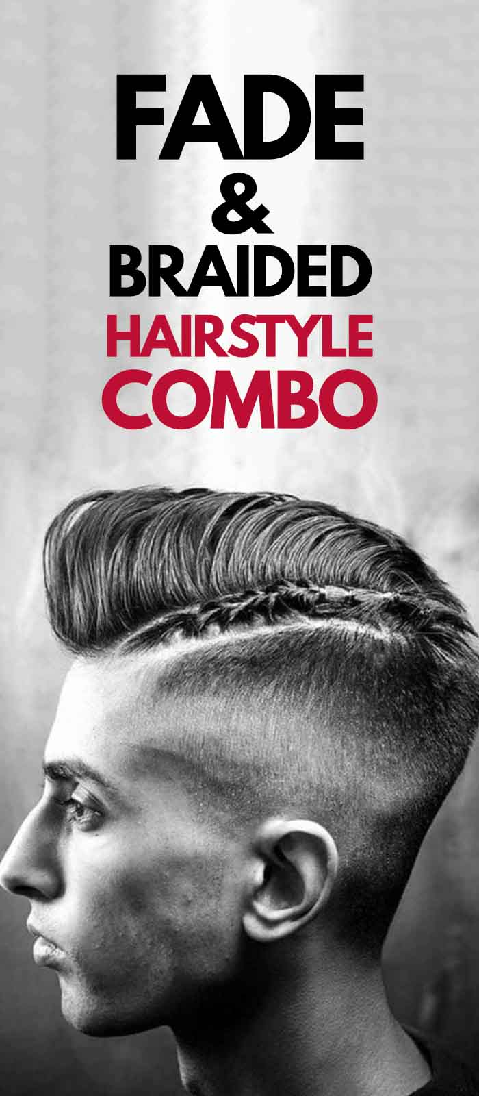 Fade Combo Fade Haircut with Braided Bun!