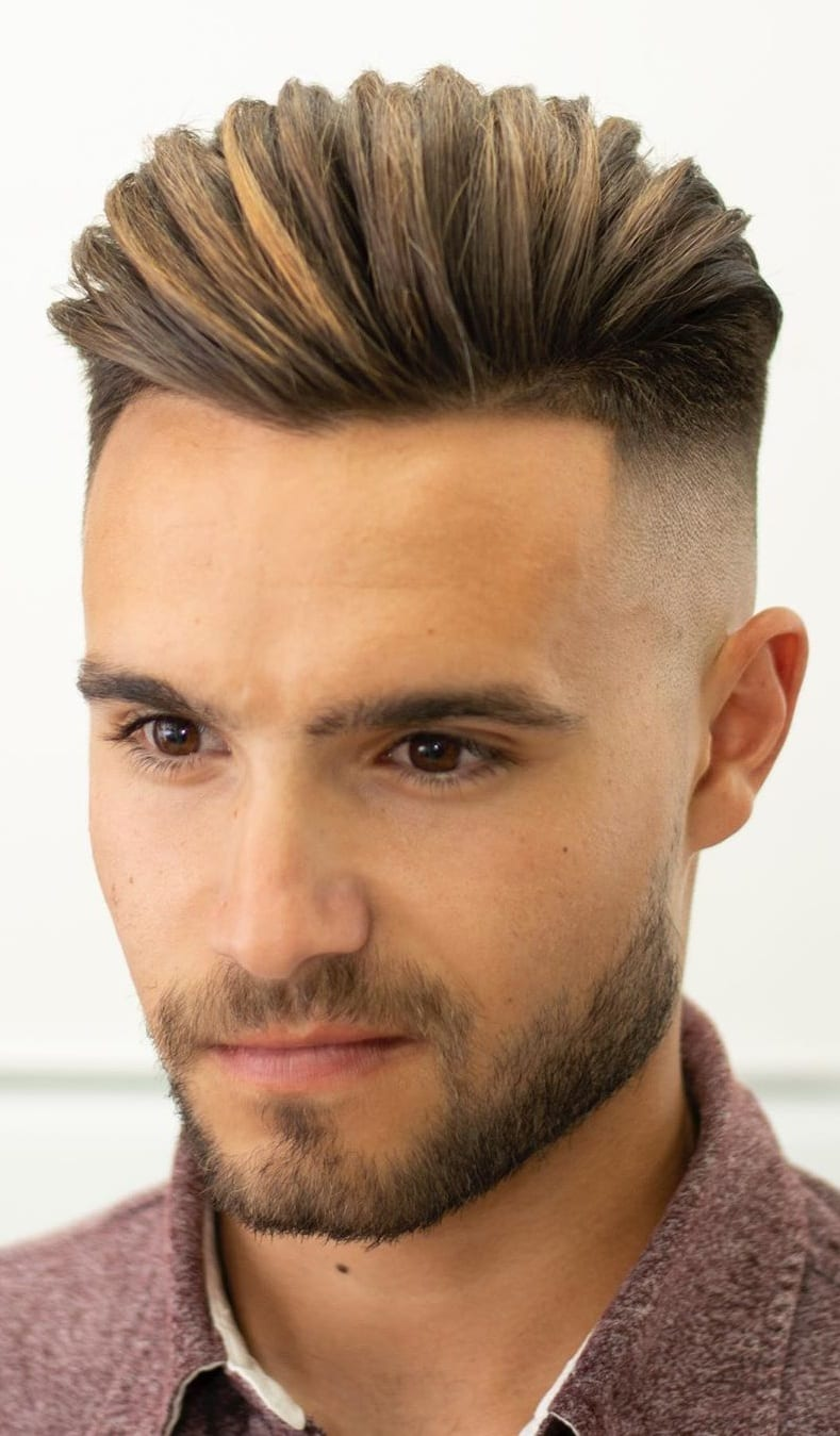 Hairstyle Combinations With Fade Style.