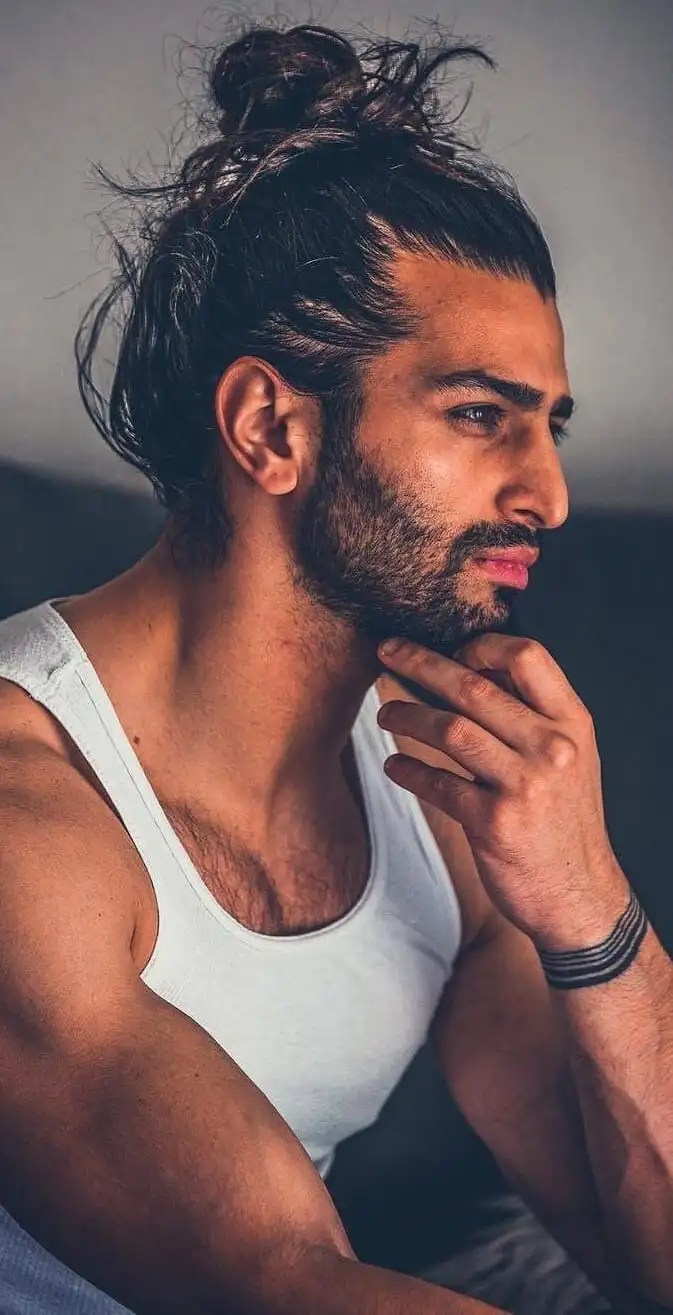 Half Ponytail Hairstyle For Men In 2019!