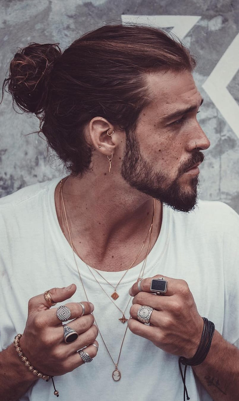 High Ponytail Hairstyle For Men In 2019!