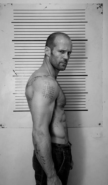 Jason Statham without hair