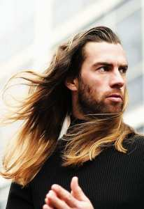 Long Hair Mane Hairstyle for Men