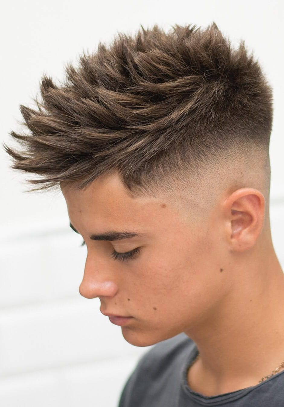 Medium Spikes Hairstyle For Men.