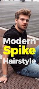 Modern Spike Haircut For Men
