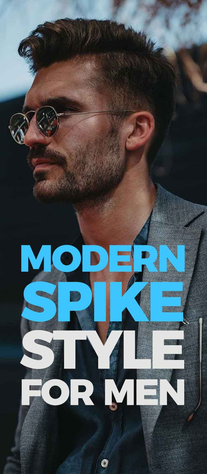 Modern Spike Haircut For Men.