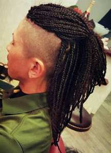 Mohawk with box braids