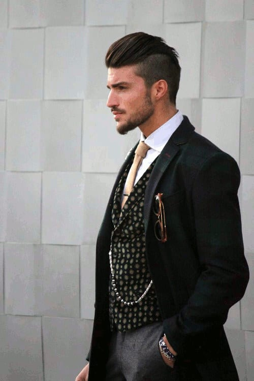 Pompadour Undercut Hairstyle Men