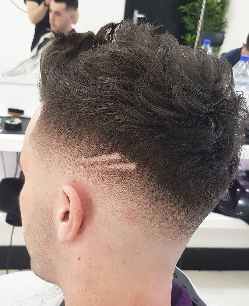Side & Back Fade Combination Hairstyle For Men