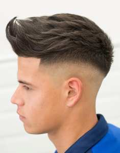Spikes With Fade Hairstyle For Men.