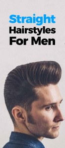Straight Hairstyles For Men 2019!