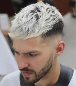 ash blonde long top hipster mens hairstyle