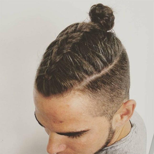braided man bun