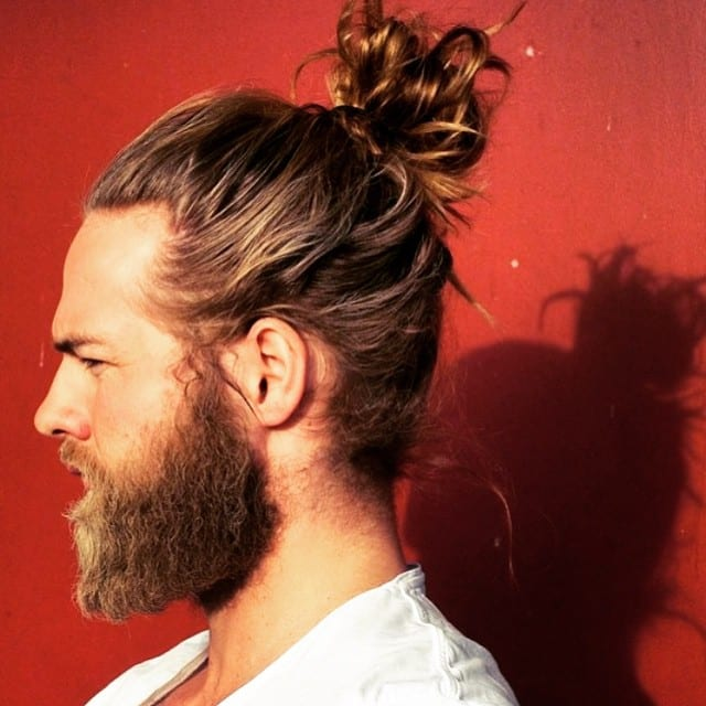 high man bun