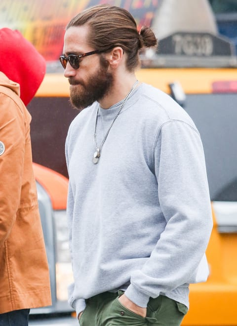 EXCLUSIVE: Jake Gyllenhaal and a friend take a walk in New York City