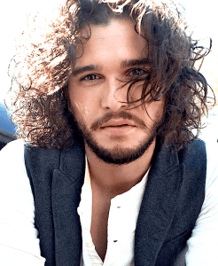 kit harringtons long curly hair