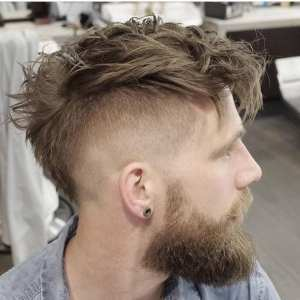 mohawk-fade-with-beard