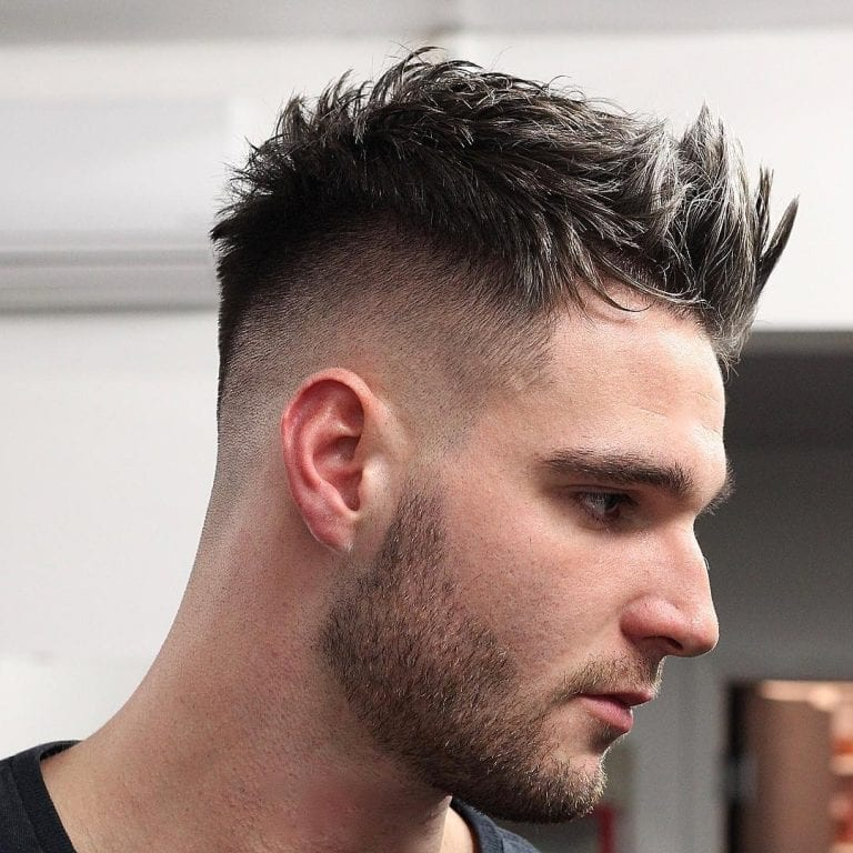 short spiky mens haircut
