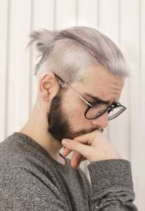 white-hair-ponytail-with-fade