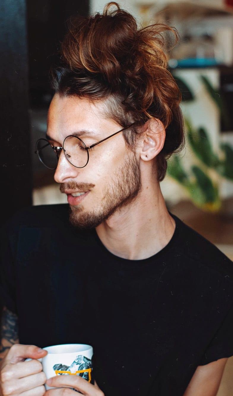 Long hair Man Bun for Men