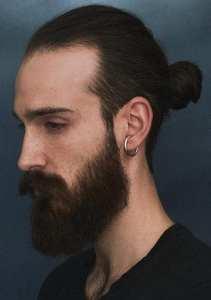 Perfect manbun long haircut for men