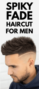 Spiky Fade Hairstyle for Men