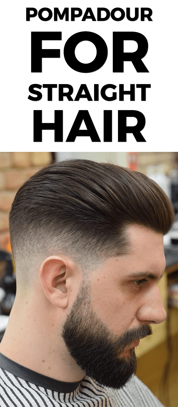 Pompadour for Straight Hair