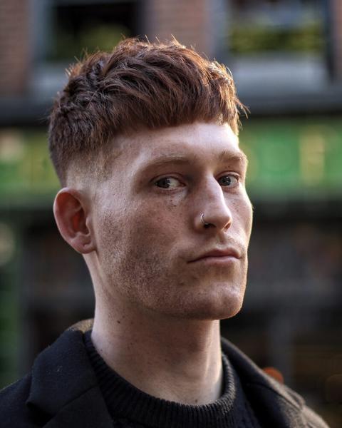 Men Textured Crop hairstyle