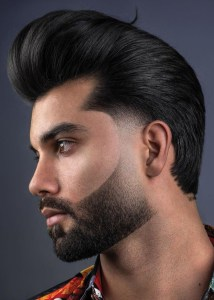 Sexy Beard and Hair Combination