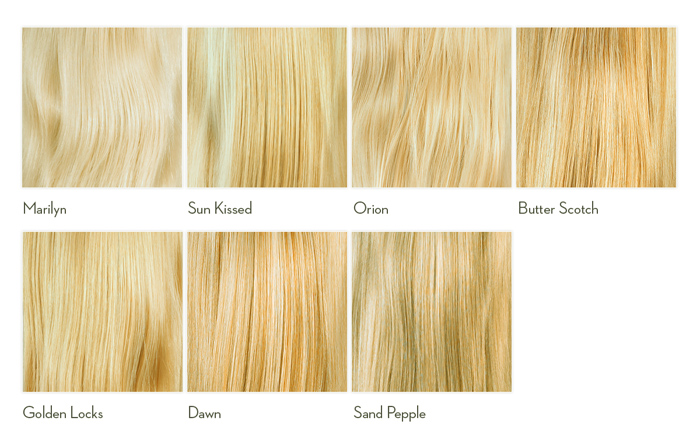 Different Colors Of Blonde Hair