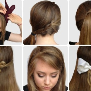 here are some examples of hairstyles that are quite easy to do most of them include a cute
