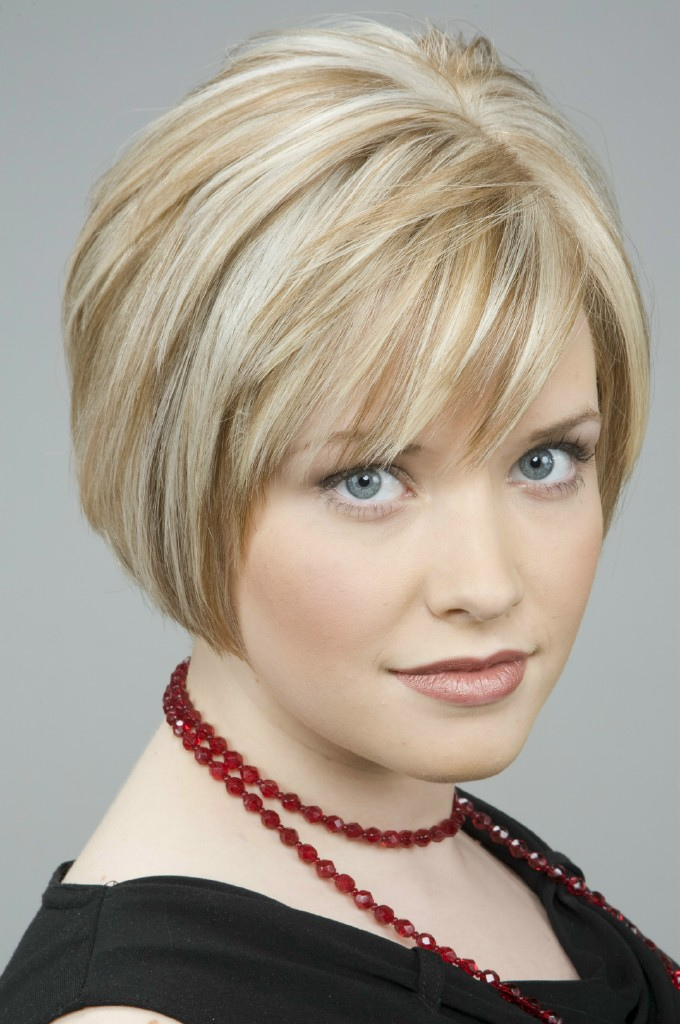 Blonde Bob Haircut with Fringe