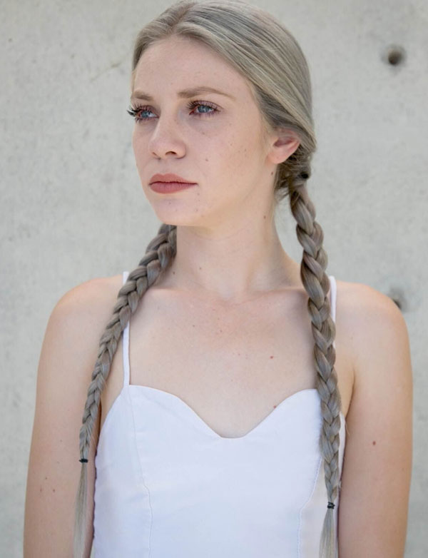Braided Pigtails for Long Hair