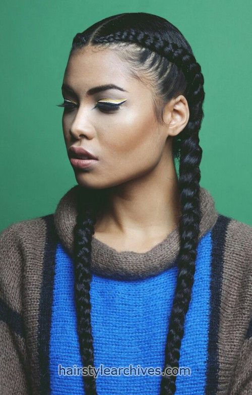 2 braided hairstyle
