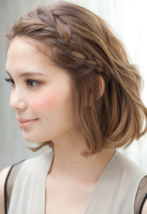 Braided Hairstyle for Short-Hair