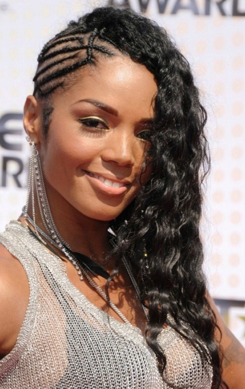 Braided Hairstyle with Weave
