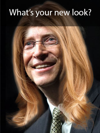 Bill Gates with Long Hair - Hairstyle Tester - Hairstyle Archives