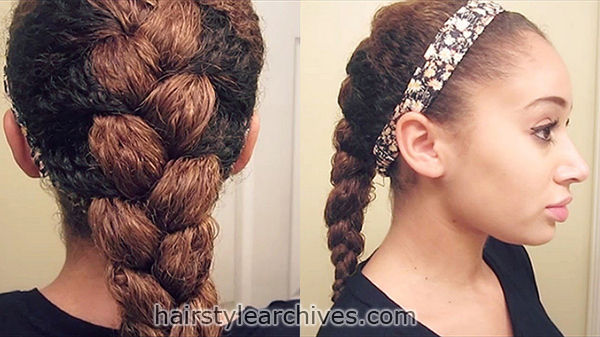 braids with curly hair