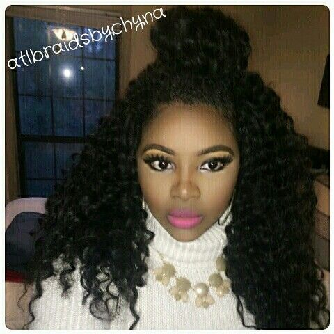 60 Hot Rock The Knotless Crochet Braid Style