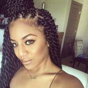 bun model with twist braids