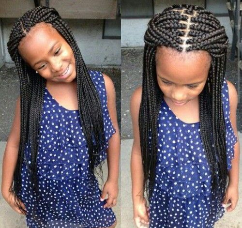 Natural Pure Hairstyles For Black Little Ladies