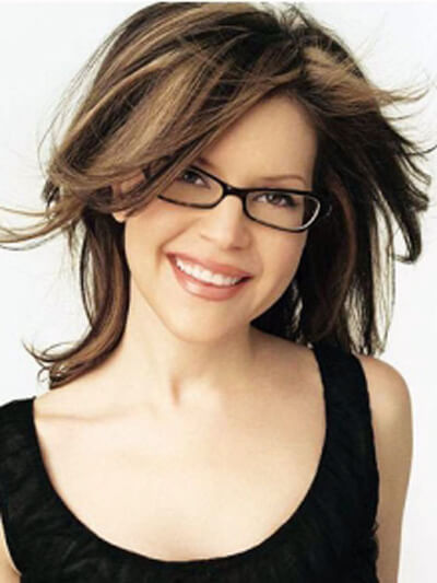 hairstyles with glasses show