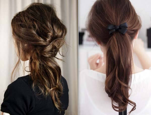 collection of easy hairstyles